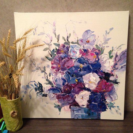 """Картины цветов ручной работы. Ярмарка Мастеров - ручная работа. Купить Картина """"полевые цветы"""", масло. Handmade. Картина в подарок"""
