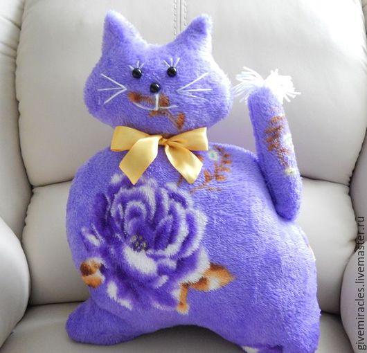 Текстиль, ковры ручной работы. Ярмарка Мастеров - ручная работа. Купить Подушка игрушка, Кот,детская подушка,плюшевая. Handmade.