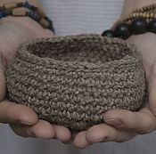 Посуда handmade. Livemaster - original item bowl of hemp yarn (hemp)