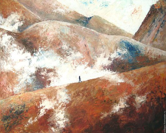 """Пейзаж ручной работы. Ярмарка Мастеров - ручная работа. Купить Картина """"Путь"""" ( живопись, картина купить, картина в подарок ). Handmade."""