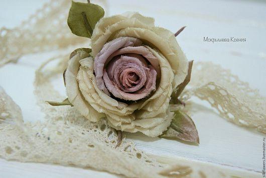 """Заколки ручной работы. Ярмарка Мастеров - ручная работа. Купить Заколка на шпильке """"Мэри"""". Handmade. Роза из шелка, свадебные аксессуары"""