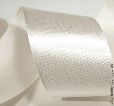 Шитье ручной работы. Ярмарка Мастеров - ручная работа. Купить Лента атласная ширина 25мм белая. Handmade. Белый, лента
