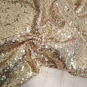 Ткани ручной работы. Ярмарка Мастеров - ручная работа Сетка с мелкими пайетками золото. Handmade.