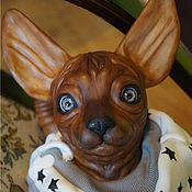 Куклы и игрушки ручной работы. Ярмарка Мастеров - ручная работа кот Обормот(порода сфинкс). Handmade.