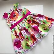 Работы для детей, ручной работы. Ярмарка Мастеров - ручная работа Летнее детское платье. Handmade.