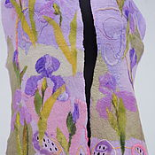 """Аксессуары ручной работы. Ярмарка Мастеров - ручная работа нуновойлочный палантин""""Розовые ирисы"""". Handmade."""