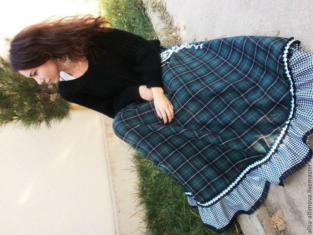 Шерстяная юбка доставка