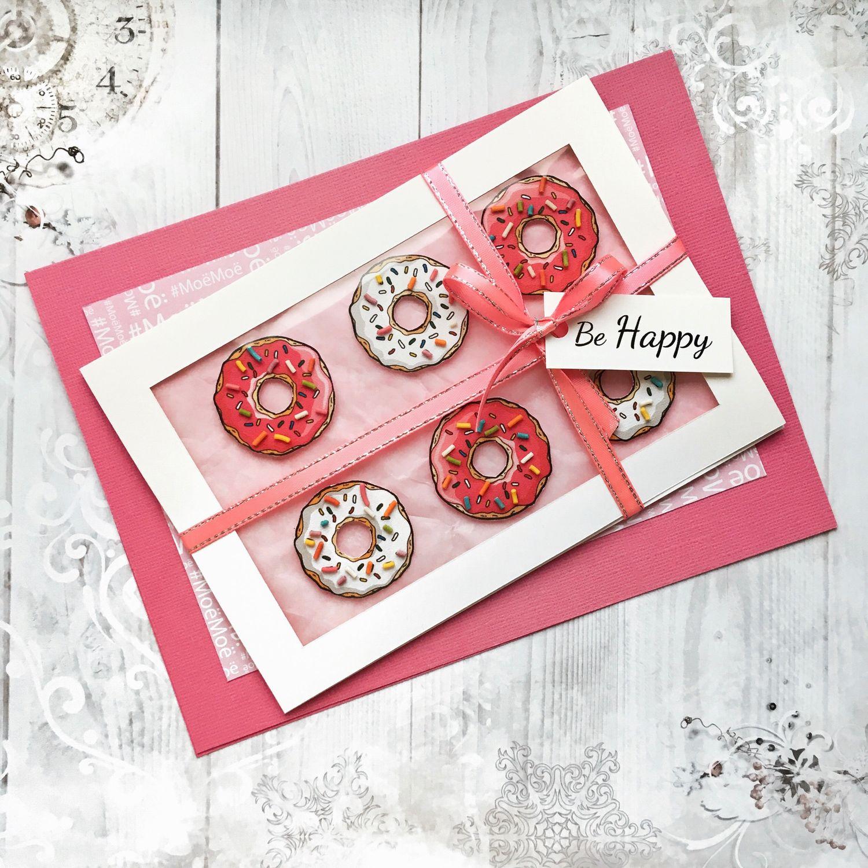 Пончик открытка