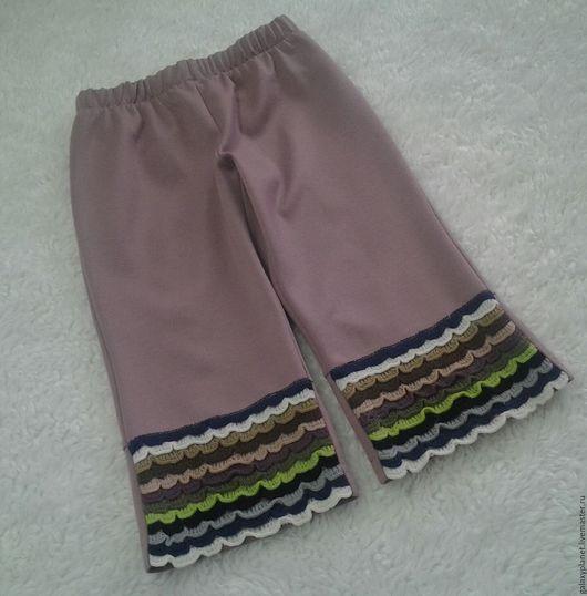 Одежда для девочек, ручной работы. Ярмарка Мастеров - ручная работа. Купить Теплые, удобные бриджи для девочки из джерси с рюшками. Handmade.
