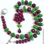 Украшения handmade. Livemaster - original item NECKLACE with RUBY ROSE organ. RUBIES, EMERALDS beads.. Handmade.