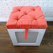 Для дома и интерьера ручной работы. Ярмарка Мастеров - ручная работа Пуф с местом для хранения. Handmade.