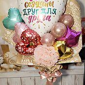 Букеты ручной работы. Ярмарка Мастеров - ручная работа Букет из шаров Про любовь. Handmade.