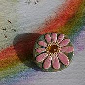 Броши Цветочки Керамика