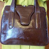 """Винтаж ручной работы. Ярмарка Мастеров - ручная работа Кожаная сумка, портфель, ридикюль """"Королевский шик"""" -винтаж США. Handmade."""