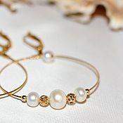 """Украшения ручной работы. Ярмарка Мастеров - ручная работа """"Pearls"""" Серьги. Handmade."""