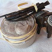 Косметика ручной работы. Ярмарка Мастеров - ручная работа Ванильный кремовый скраб для лица, 50 мл. Handmade.