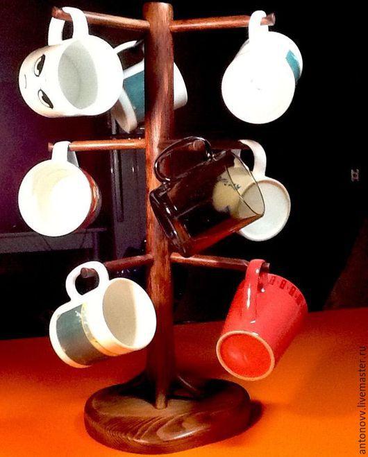 Мебель ручной работы. Ярмарка Мастеров - ручная работа. Купить Подставка для кружек. Handmade. Подставка, кухня, натуральное дерево