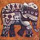 """Персональные подарки ручной работы. Ярмарка Мастеров - ручная работа. Купить """"Слон"""", авторская печать.. Handmade. Тёмно-синий, подарок"""