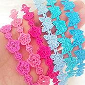 Работы для детей, handmade. Livemaster - original item A set of bracelets Summer breeze lace embroidery colorful baubles. Handmade.