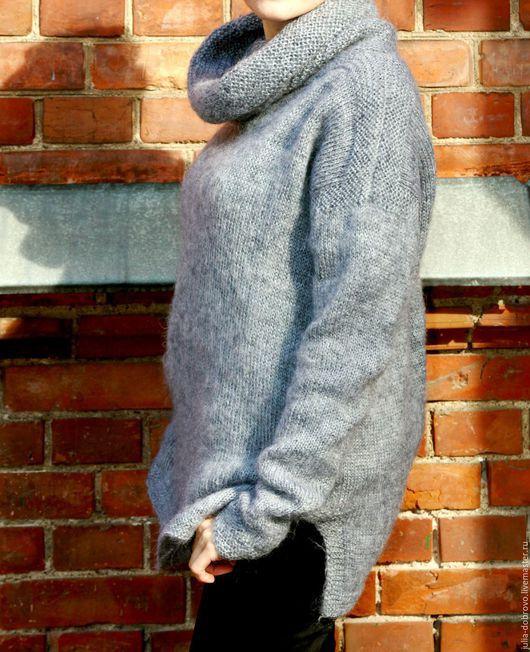 """Кофты и свитера ручной работы. Ярмарка Мастеров - ручная работа. Купить Туника джемпер свитер оверсайз из мохера """"Тёплый"""". Handmade."""