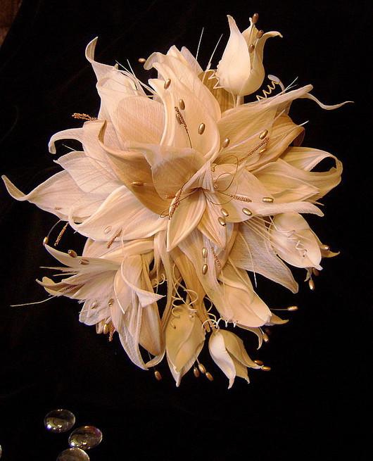 """Одежда и аксессуары ручной работы. Ярмарка Мастеров - ручная работа. Купить Цветы из шелка.Свадебный комплект """"Мечты сбываются"""". Handmade."""