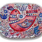 Картины и панно ручной работы. Ярмарка Мастеров - ручная работа Розовая птица. Handmade.