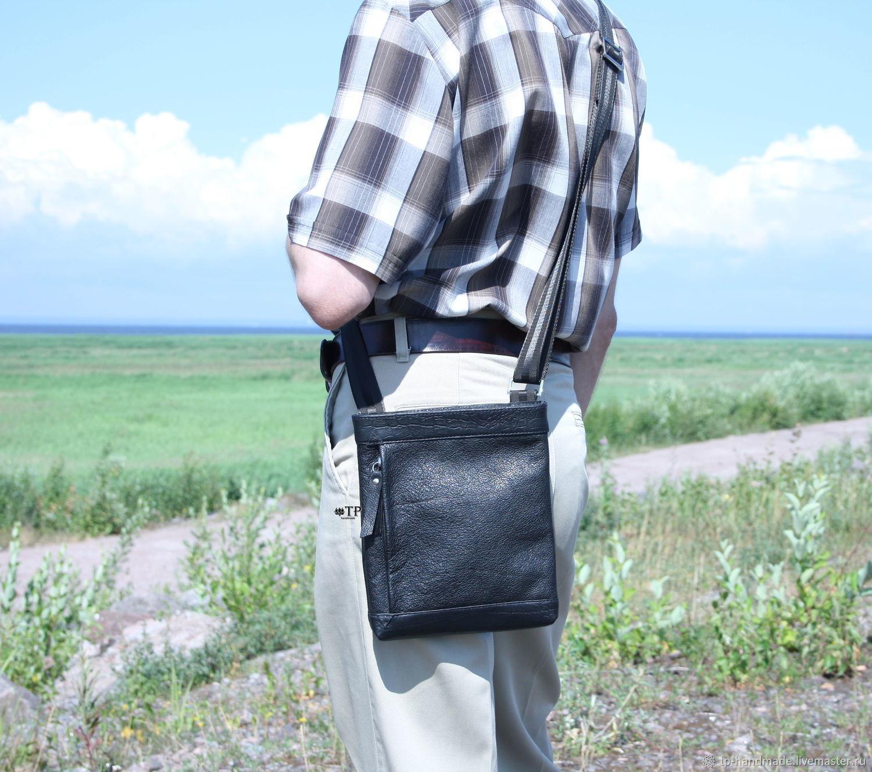 Men's bag leather, Crossbody bag, St. Petersburg,  Фото №1