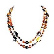 Украшения handmade. Livemaster - original item Long necklace of natural onyx. Handmade.