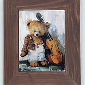 """Картины и панно ручной работы. Ярмарка Мастеров - ручная работа """"Музыкант"""" серия Тедди. Handmade."""