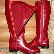 Обувь ручной работы. Ярмарка Мастеров - ручная работа Сапоги Зимняя вишня. Handmade.