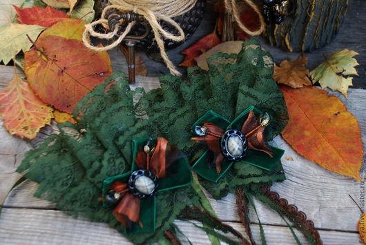 """Варежки, митенки, перчатки ручной работы. Ярмарка Мастеров - ручная работа. Купить Перчатки """" Forest moss"""". Handmade."""