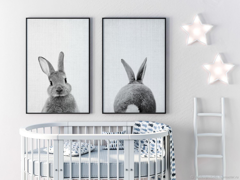 Пасхальный кролик постеры в детскую, Картины, Челябинск, Фото №1