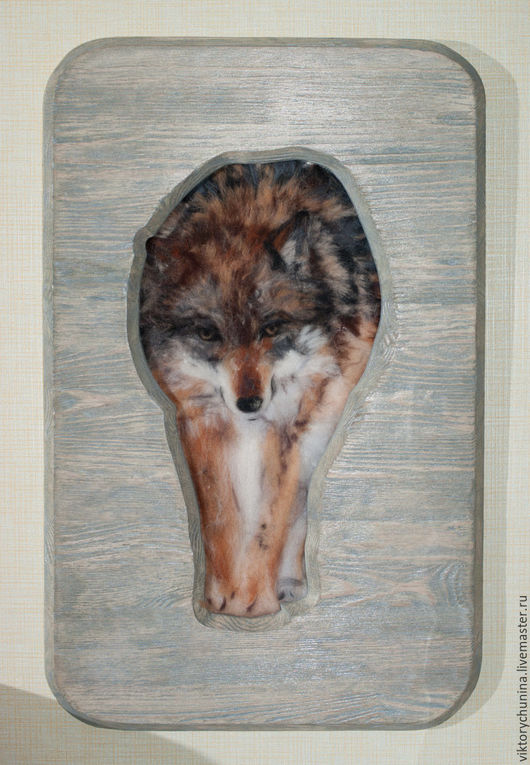 Животные ручной работы. Ярмарка Мастеров - ручная работа. Купить Волк. Handmade. Коричневый, тотем, шерсть, для дома и интерьера, сосна
