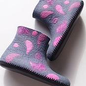 Обувь ручной работы handmade. Livemaster - original item Felted women`s boots. Handmade.