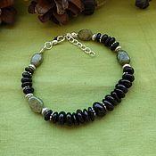 Фен-шуй и эзотерика handmade. Livemaster - original item Bracelet with schorl and green garnet. Handmade.
