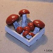 """Куклы и игрушки ручной работы. Ярмарка Мастеров - ручная работа Миниатюра """"Грибы 1"""". Handmade."""