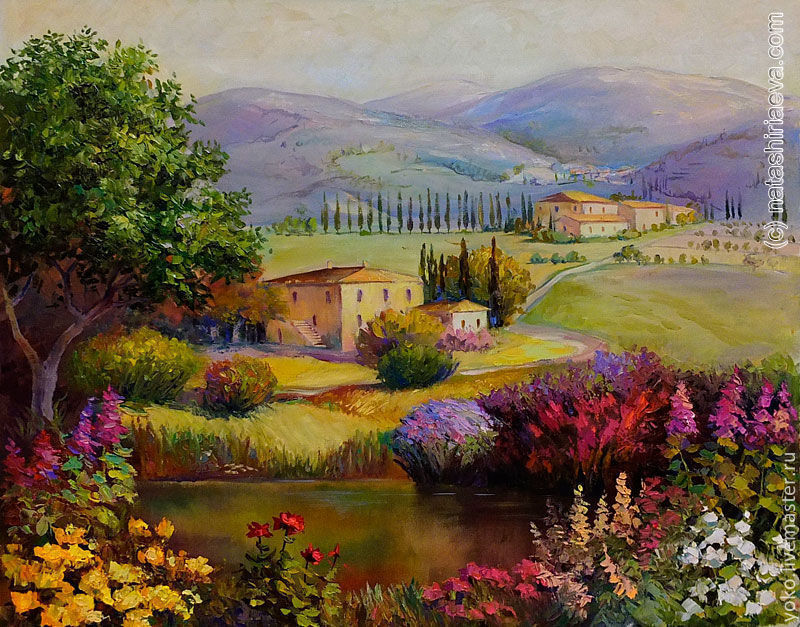 'dreams of provence' original oil painting on canvas, Pictures, Voronezh,  Фото №1