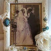Свадебный салон ручной работы. Ярмарка Мастеров - ручная работа Свадебная фоторамка. Handmade.