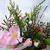 Подарки к праздникам ручной работы. Ярмарка Мастеров - ручная работа Пасхальная композиция. Handmade.