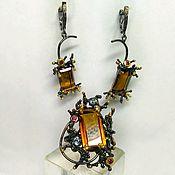 Комплекты украшений ручной работы. Ярмарка Мастеров - ручная работа Комплект с коньячным кварцем. Handmade.