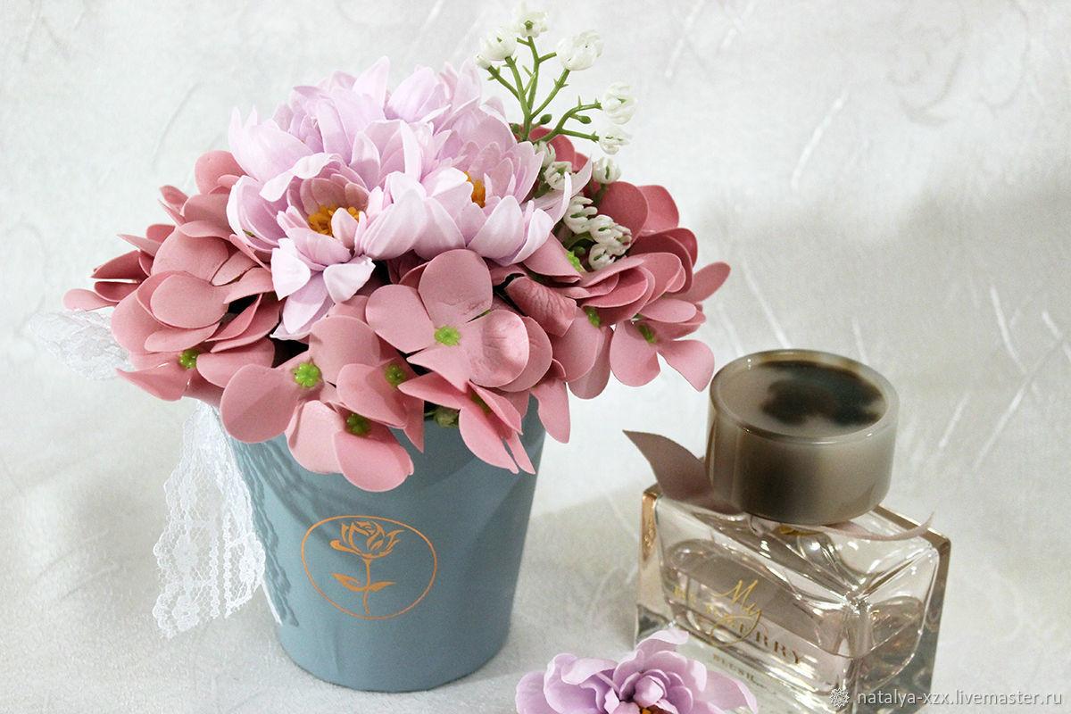 Мини-букет из гортензий, Цветы, Москва, Фото №1