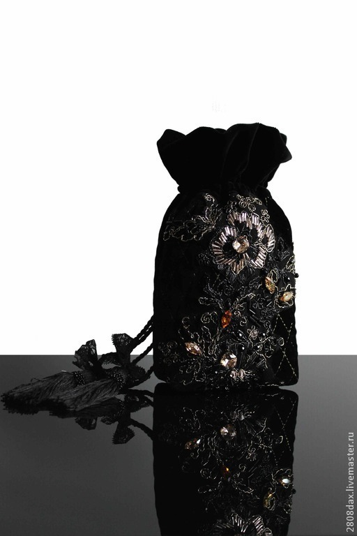 """Женские сумки ручной работы. Ярмарка Мастеров - ручная работа. Купить Cумочка """"GRAND OPERA"""" бархат, черный, вышивка, кружево. Handmade."""