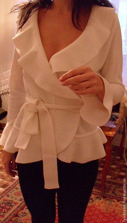 Пиджаки, жакеты ручной работы. Ярмарка Мастеров - ручная работа. Купить жакет -5. Handmade. Белый