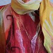"""Аксессуары ручной работы. Ярмарка Мастеров - ручная работа палантин """"Огонь"""". Handmade."""