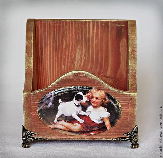 """Корзины, коробы ручной работы. Ярмарка Мастеров - ручная работа. Купить Короб """"Друг"""". Handmade. Короб для хранения, щенок, дерево"""