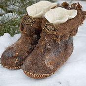 """Обувь ручной работы. Ярмарка Мастеров - ручная работа Чуни """" Мохнатые"""". Handmade."""