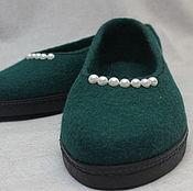 Обувь ручной работы. Ярмарка Мастеров - ручная работа Туфли валяные женские. Handmade.