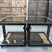 Для дома и интерьера ручной работы. Ярмарка Мастеров - ручная работа Журнальный столик из стали и стекла.. Handmade.
