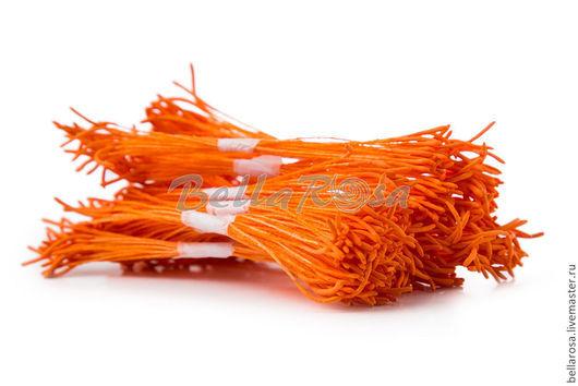 Тычинки `Лотос длинные`. Оранжевые ножки, оранжевые головки. В пучке 25 двусторонних тычинок (производство - Таиланд). 13 руб пучок.
