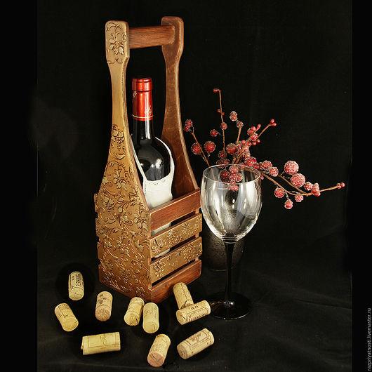 Персональные подарки ручной работы. Ярмарка Мастеров - ручная работа. Купить Короб для вина Лоза. Handmade. Короб для вина, лоза